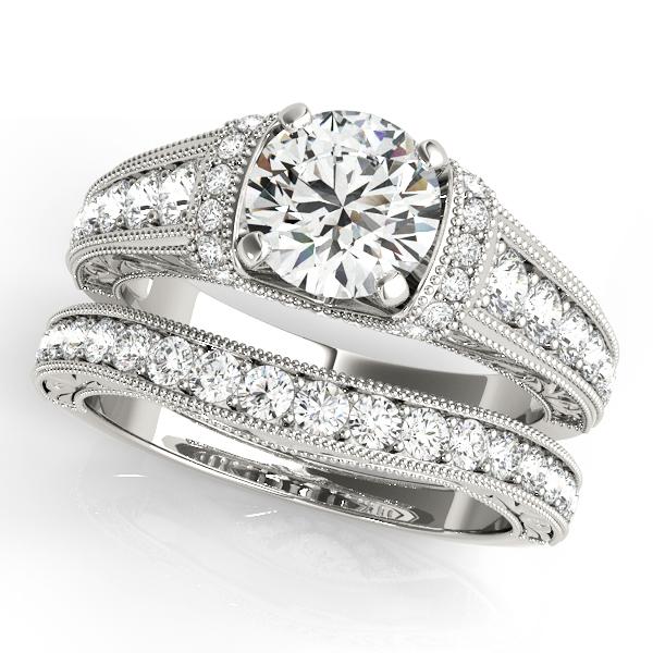 White gold engagement ring 50802 e.set  1