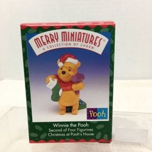 1999 Winnie the Pooh Mini Hallmark Christmas Tree Ornament MIB w Price T... - $9.41