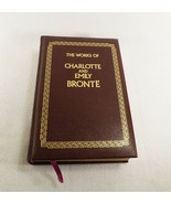 The Works of Charlotte and Emily Bronte Leather Jane Eyre Wuthering Heig... - $17.77