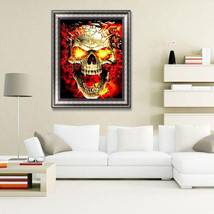 Skull DIY 5D Full Diamond Painting Embroidery Cross Stitch Kit Rhineston... - $15.99