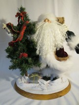 2001 J&T Imaginations Boyds Collection Santa Claus Nicholas w/ Tree Moha... - $24.25