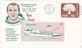 ASTRONAUT VANCE BRAND FLIES A-7 DIGITAC EDWARDS CA AUGUST 12 1976 - $1.98