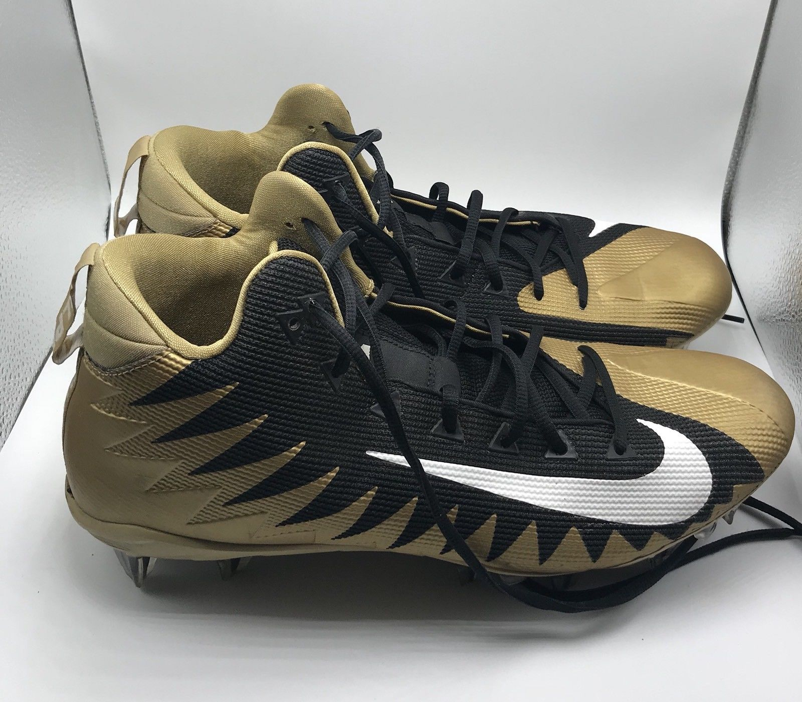 55bb41fbf Men s Cleats Nike Alpha Menace Black Gold and 50 similar items. 57