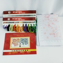 """Classical Stamped Cross Stitch Kit Multi Colored Tree Panel Length 44"""" x... - $24.75"""