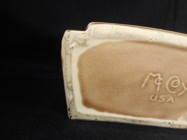 "Vintage McCoy Pottery 9"" Quail Plant Holder"