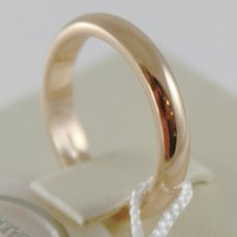 SOLID 18K YELLOW GOLD WEDDING BAND UNOAERRE RING 5 GRAMS MARRIAGE MADE IN ITALY image 2