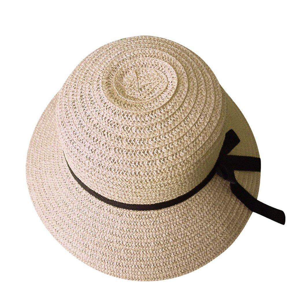 Sun hats for women summer visor hat floppy foldable ladies straw beach wide brim hats d90425