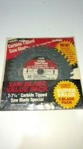 Saw Blades Carbide Tipped 40 Teeth 2 Pack Size 7-7 1/4 New - $17.75