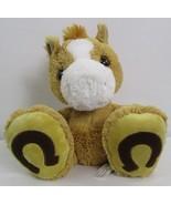 "2014 Aurora Plush Beanie 12"" Shaggy Brown Lucky Horseshoe Baby Horse Pon... - $14.30"