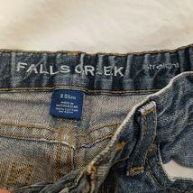 Blue Jeans Denim Boys Size 8 Slim Straight Falls Creek image 5