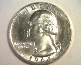 1964 Washington Quarter Choice Uncirculated / Gem Ch. Unc. / Gem Nice Original - $14.00