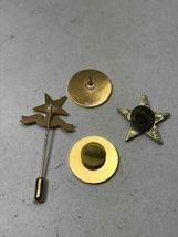 Lot Four Vintage Masonic Order of the Eastern Star Pin Pennsylvania Gold Tone image 4