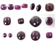 Natural Untreated Unheated RED RUBY Checker Cut Cushion Oval Shapes Gems... - $16.60+