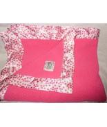 Little Giraffe Sherpa Satin Baby Blanket Hot Pink Fuchsia Magenta Polka Dot - $38.57