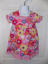 Hannah Andersson Dress Playdress Size 80 2T Soft Pink Floral 100% cotton... - $14.82