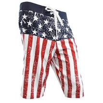 USA American Flag Men's DISTRESSED Board Shorts Patriotic Swim Trunks (S... - $24.95+