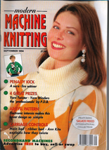 Modern Machine Knitting Sept 1994 Magazine Intarsia Penalty Kick Soccer ... - $7.12