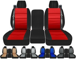 40-20-40 Front set car seat covers Fits Chevy Silverado with INT SB   24 colors - $109.99