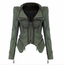 Studded Zipper Punk Stylish Women Denim Jackets - $98.24+