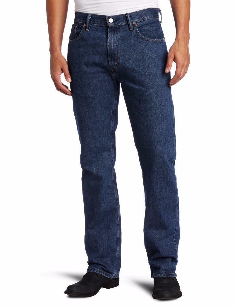 NEW LEVI'S STRAUSS 505 MEN'S ORIGINAL STRAIGHT LEG DARK STONEWASH JEANS 505-4886