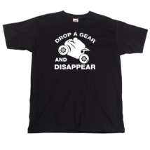 Drop a Gear and Disappear Motorbike T shirt Biker Tshirt - $15.95