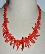 "VTG Southwestern Long Red Branch Natural Coral Necklace 1.5"" Longest Branch - $297.00"