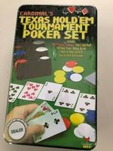 Cardinals Texas Hold 'Em Tournament Poker Set for Ages 8+ NIB - $22.75