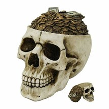 Pacific Giftware PT Money Top Skull Box Container Home Tabletop Decorative Resin - $28.98