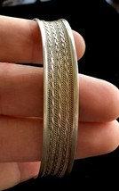 Sterling Silver Vintage CUFF BRACELET - 19 grams - handcrafted by a Silv... - $115.00