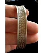 Sterling Silver Vintage CUFF BRACELET - 19 grams - handcrafted by a Silv... - €96,99 EUR