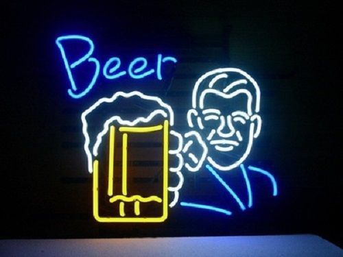 "New Bar Pub Open Wall Decor Happy Hour Lamp Light BEER Neon Sign 24""x20"""