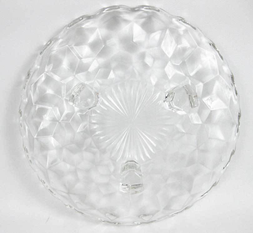 "Vintage Fostoria American Clear Footed Bon Bon Dish Plate 7"""
