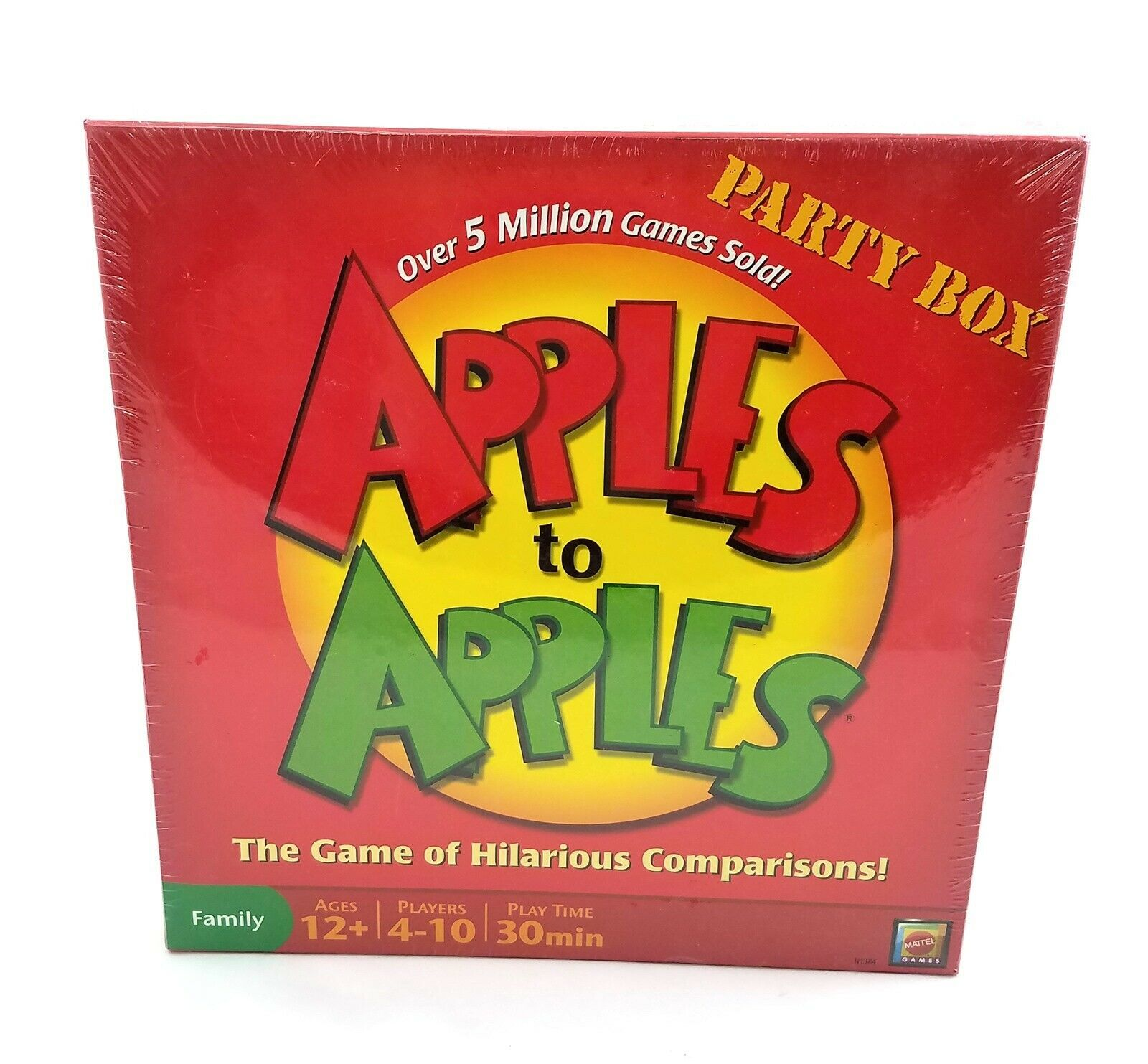 Apples To Apples Party Box Card Game Family 1000 Cards by Mattel 2007 NEW - $29.57