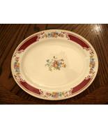 """Homer Laughlin Lady Alice Red Floral Platter Gold Trim 11 3/4"""" VG Rare V... - $39.56"""