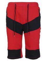 LR Men's Urban Streetwear Cotton Striped Casual Gym Drawstring Sweat Shorts image 8