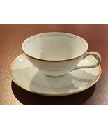 4 GOLD WHITE CUP & SAUCER SETS  MEITO ROYALTY COFFEE TEA PORCELAIN CHINA... - $27.58