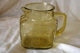 Federal Glass 1939 Madrid Amber 36 oz. Square Pitcher - $20.78