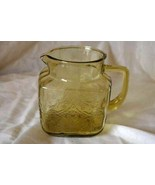 Federal Glass 1939 Madrid Amber 36 oz. Square Pitcher - $18.89