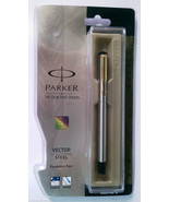 Parker Vector Steel  Fountain Pen  With Gold Clip - $19.80