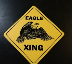 Large Crossing Funny Novelty Xing Sign Eagle USA patriot - $13.85