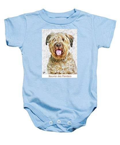Primary image for Pieter - Bouvier Des Flanders - Baby Onesie - Light Blue/Large