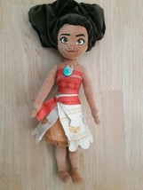 "Disney Store Moana Plush Doll Stuffed Animal 19"" Long Soft Collectible - $10.64"