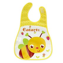 2 Pcs Pinafore for Baby,Cartoon Bee Showerproof Comfortable Baby Bib image 2