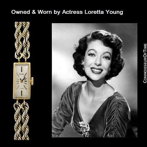 Primary image for 1960's Swiss Vintage Ladies 14K Gold P. Watch - OWNED & WORN BY LORETTA YOUNG