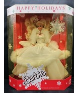1989 Happy Holiday Special Edition Barbie Doll w/Snowflake Ornament - $44.54