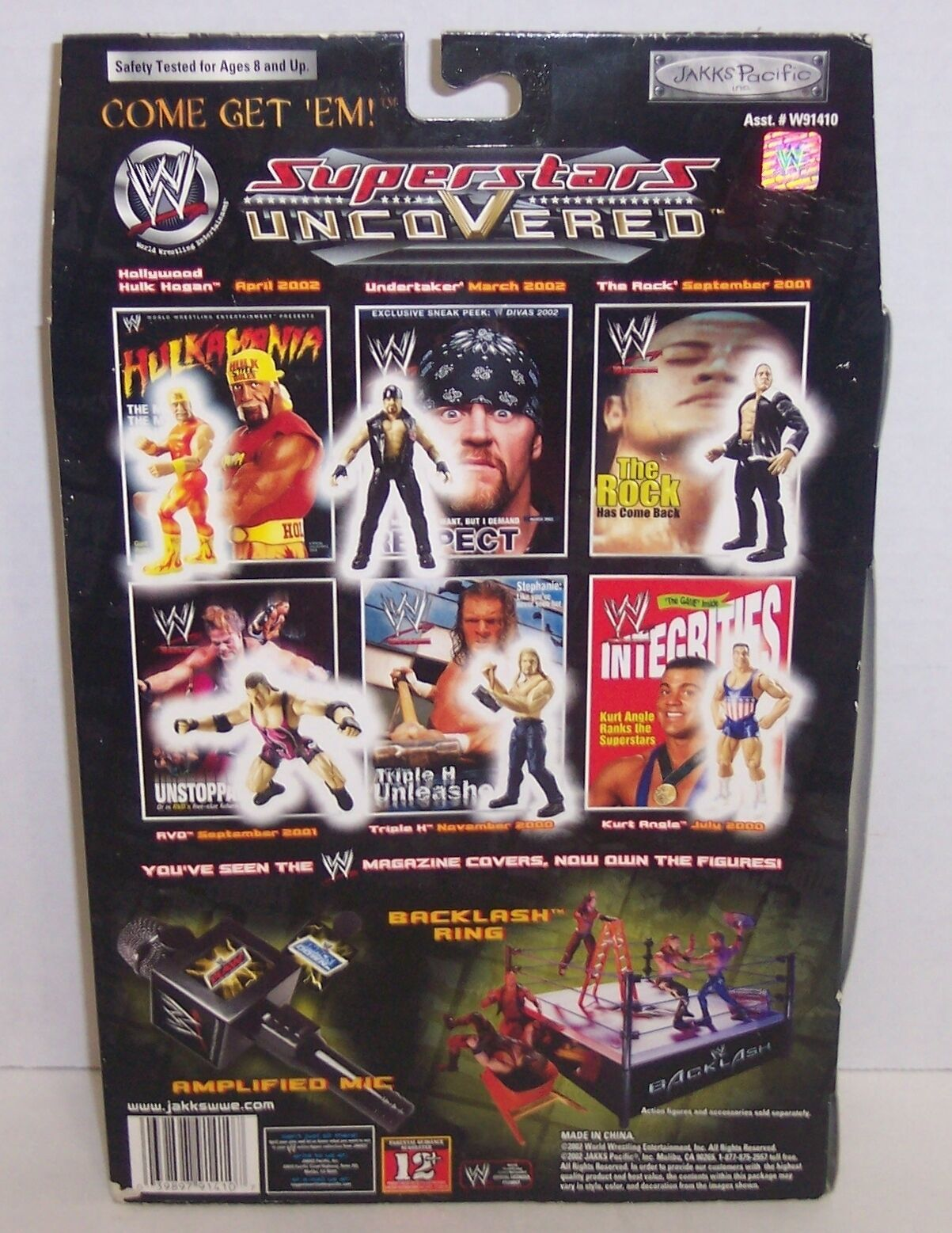 "New! 2002 Jakk's Superstars uncoVered ""Triple H"" Action Figure WWF WWE [784] image 2"