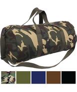 "Best Canvas Duffle Bag, 24"" x 12"" Camo Army Gym Recreational Travel Shou... - $19.99"