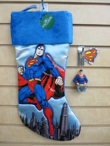 DC Comics SUPERMAN Christmas Stocking and Ornament - New with Tags - $19.95