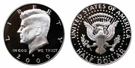 2009 S Silver Proof Kennedy Half Dollar from US Mint SILVER Proof Set CP... - $14.85