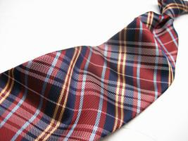 IZOD   Burgundy Multi COLORED stripes PLAID     Mens 100 SILK  Necktie  ... - $15.99